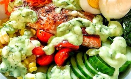 Baked Salmon Cobb Salad with Green Goddess Dressing