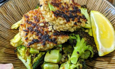 Barley Risotto Cakes with Roasted Broccoli