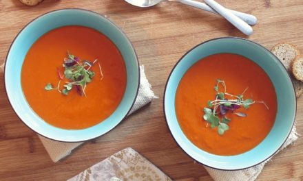 Gazpacho with Ricotta Toast