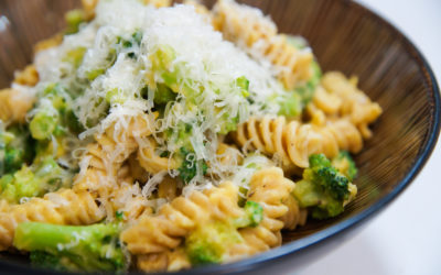 Broccoli Pasta with Creamy Squash Sauce