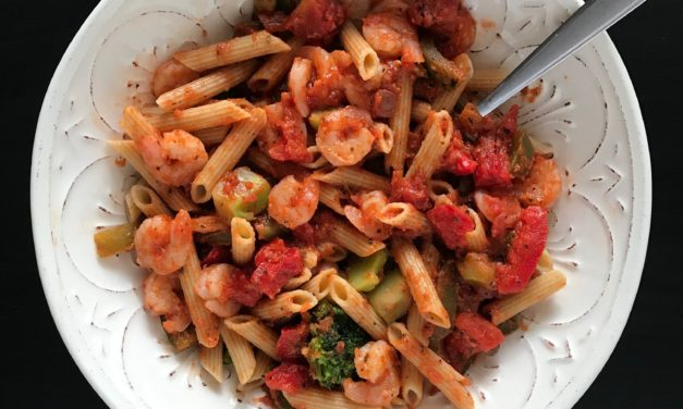 Shrimp and Penne with Marsala Red Sauce