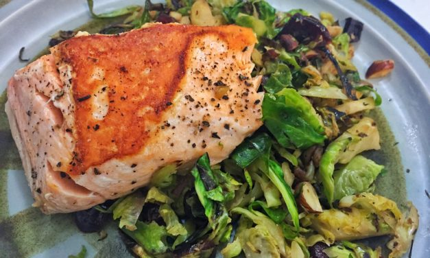 Pan Seared Salmon with Sautéed Brussels Sprouts